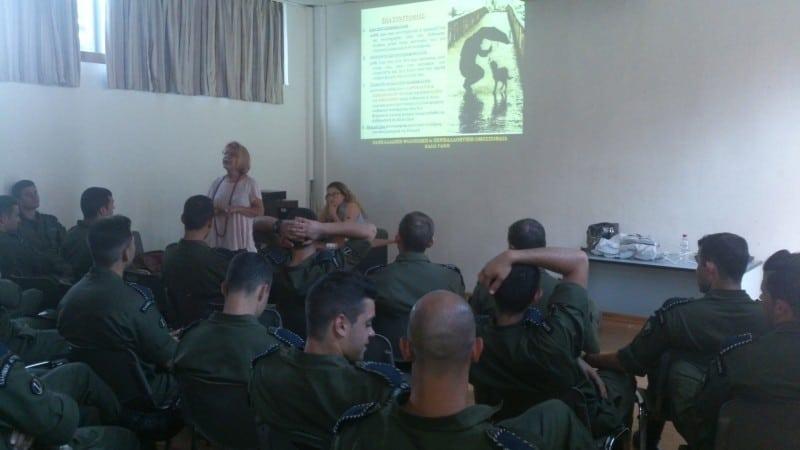Παρουσίαση στη σχολή αστυνομικών στο Ρέθυμνο
