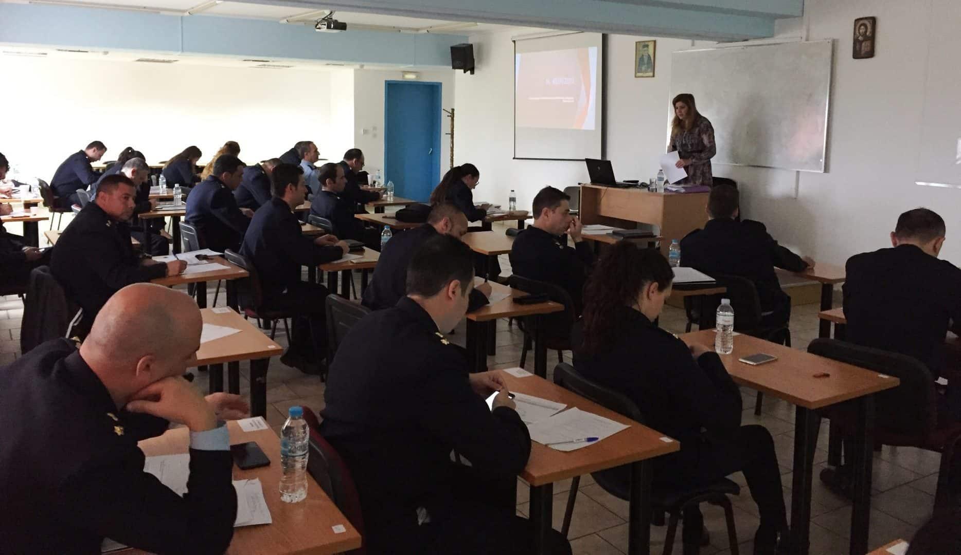 Σεμινάριο της ΠΦΠΟ στο Τμήμα Επαγγελματικής Μετεκπαίδευσης Επιτελών Στελεχών (Τ.Ε.Μ.Ε.Σ.) της Ελληνικής Αστυνομίας/Seminar of PFPO to the Department of Professional Training of Police Officers-Executives