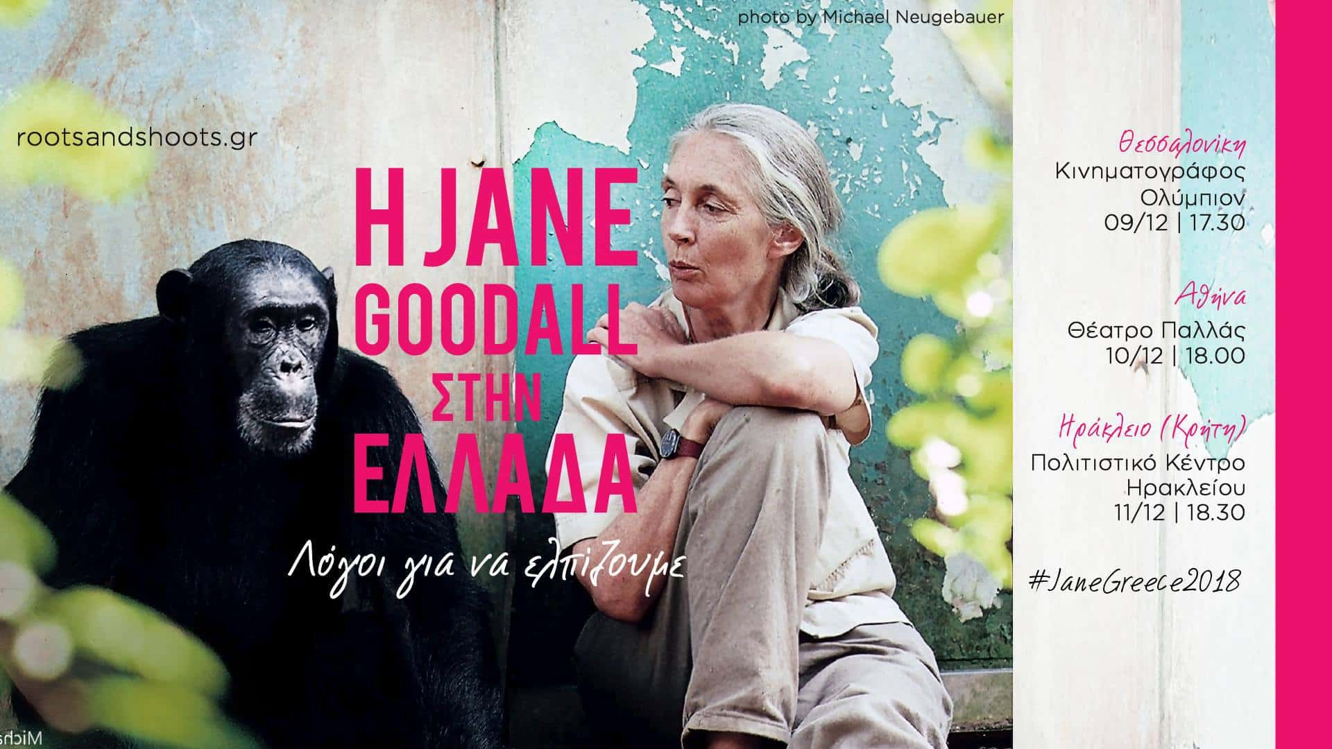 """Dr Jane Goodall  «δεν μπορείς να μοιραστείς τη ζωή σου με ένα ζώο αν δεν αντιληφθείς ότι και αυτά έχουν συναισθήματα» / Dr Jane Goodall """"You could have an animal in your life if only if you realize that animals are sentient beings!"""""""