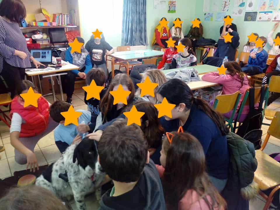 """Το »Συγκάτοικοι στον ίδιο Πλανήτη Άνθρωποι & Ζώα» στο 1ο Δημοτικό Γαζίου / The educational program """"People and Animals: Roommates on the same planet"""" was presented at 1st Primary School at Gazi"""