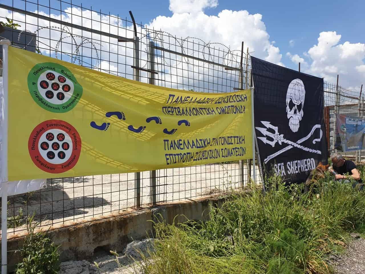 Η ΠΦΠΟ στην διαμαρτυρια της 11ης Μαίου έξω απο το Αττικό Πάρκο / PFPO participated in a protest on May 11th outside the Attica Zoological Park