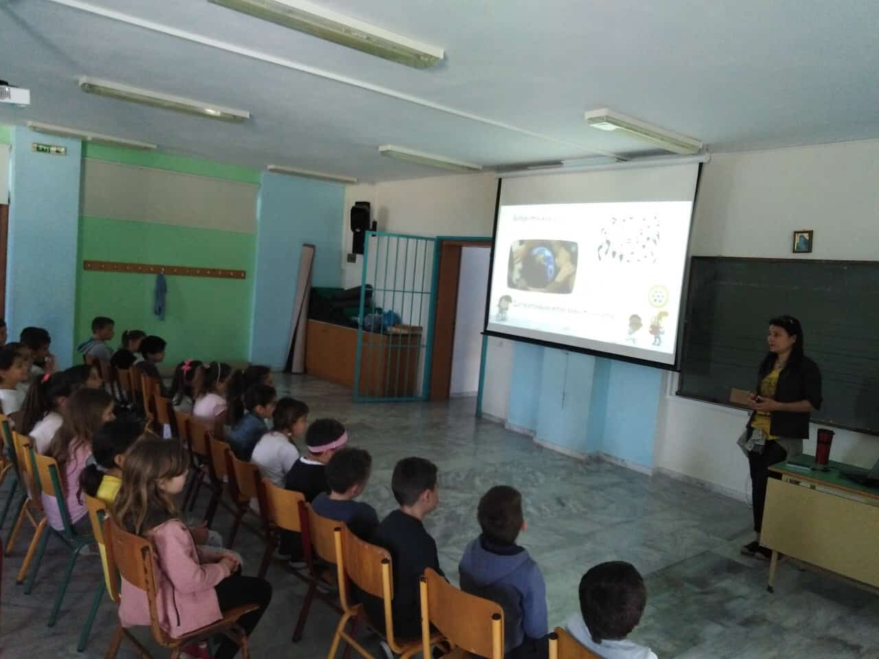"Presentation of PFPO's educational program ""People and Animals: Roommates on the same planet at Platanias Primary School in Chania"