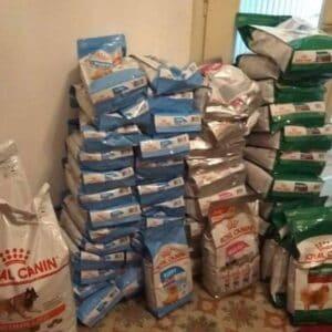 150 κιλά τροφή της Royal Canin στα αδέσποτα του δήμουΦυλής
